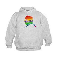 State Alaska Rainbow Hoodie