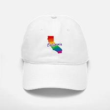 Gay Pride Rainbow California Baseball Baseball Cap
