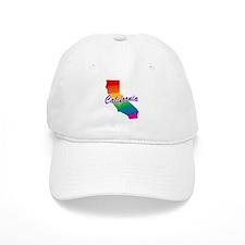 Gay Pride Rainbow California Baseball Cap