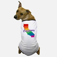 Gay Pride Rainbow California Dog T-Shirt