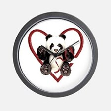 China Panda Love Wall Clock