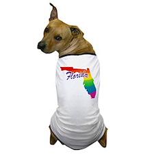 Gay Pride Rainbow Florida Dog T-Shirt