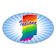 Gay Pride Rainbow Indiana Decal