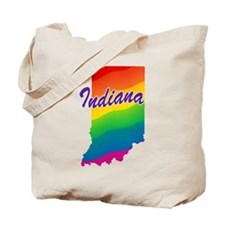 Gay Pride Rainbow Indiana Tote Bag