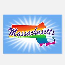 Gay Pride Rainbow Massachusetts Postcards (Package