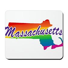 Gay Pride Rainbow Massachusetts Mousepad