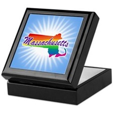 Gay Pride Rainbow Massachusetts Keepsake Box