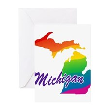 Gay Pride Rainbow Michigan Greeting Card