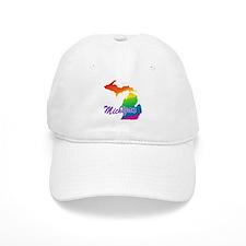 Gay Pride Rainbow Michigan Baseball Cap