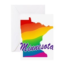 Gay Pride Rainbow Minnesota Greeting Card