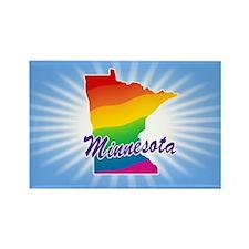 Gay Pride Rainbow Minnesota Rectangle Magnet