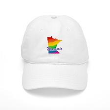 Gay Pride Rainbow Minnesota Baseball Cap