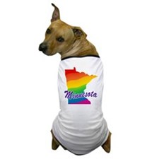 Gay Pride Rainbow Minnesota Dog T-Shirt