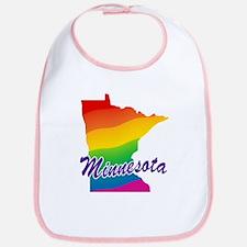 Gay Pride Rainbow Minnesota Bib
