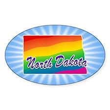 Gay Pride Rainbow North Dakota Decal