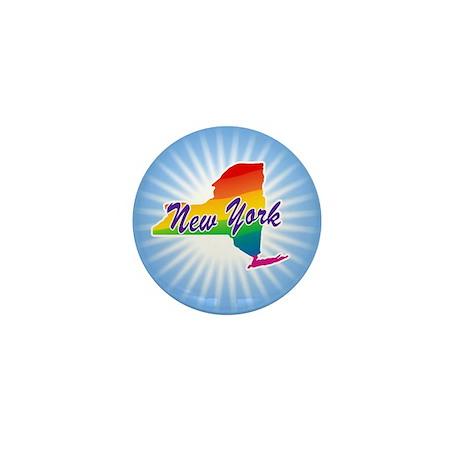 Gay Pride Rainbow New York Mini Button
