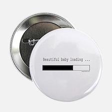 "Beautiful baby loading 2.25"" Button"