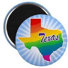 Gay Pride Rainbow Texas Magnet
