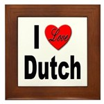 I Love Dutch Framed Tile