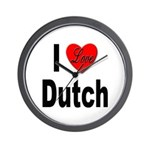 I Love Dutch Wall Clock