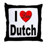 I Love Dutch Throw Pillow