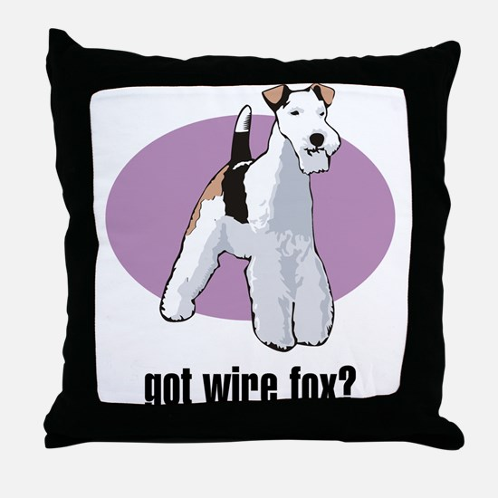 Wire Fox Terrier 2 Throw Pillow