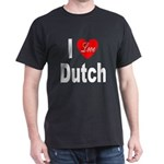 I Love Dutch (Front) Black T-Shirt