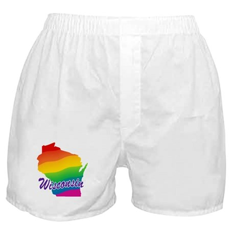 Gay Pride Rainbow Wisconsin Boxer Shorts