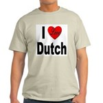 I Love Dutch (Front) Ash Grey T-Shirt