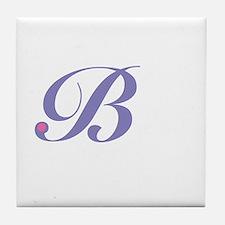 Initial B Tile Coaster