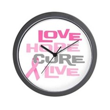 Love Hope Cure Live Wall Clock
