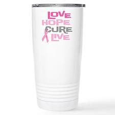 Love Hope Cure Live Travel Mug