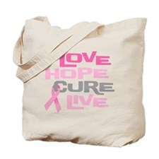 Love Hope Cure Live Tote Bag