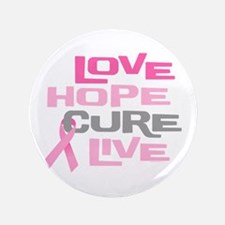 "Love Hope Cure Live 3.5"" Button"
