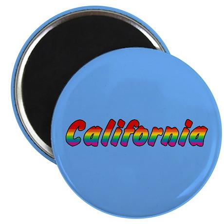 Rainbow California Text Magnet