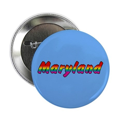 "Rainbow Maryland Text 2.25"" Button (10 pack)"