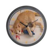 the whiskers' syndicate Dusty Wall Clock