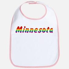 Rainbow Minnesota Text Bib