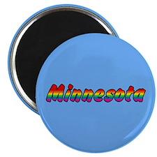 Rainbow Minnesota Text Magnet