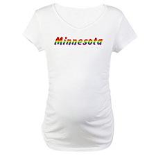 Rainbow Minnesota Text Shirt