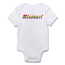 Rainbow Missouri Text Infant Bodysuit