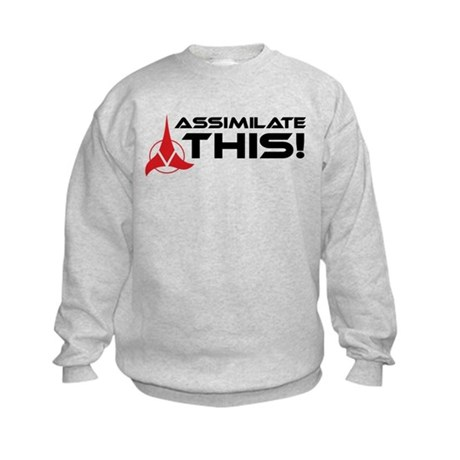 Worf: Assimilate This Kids Sweatshirt