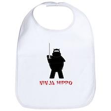 Ninja Hippo Bib