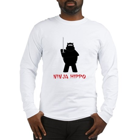 Ninja Hippo Long Sleeve T-Shirt