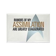 Picard Rumors Quote Rectangle Magnet