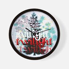 Twilight Christmas by Twidaddy.com Wall Clock