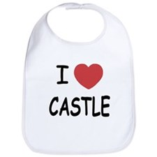 I heart Castle Bib
