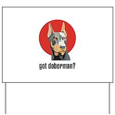Doberman 3 Yard Sign