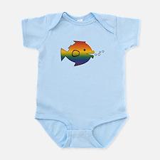 CRAZYFISH rainbow fish Infant Bodysuit