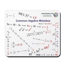 Common Algebra Mistakes Mousepad